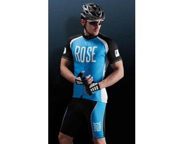 ROSE DESIGN III fietsbroek black/sky