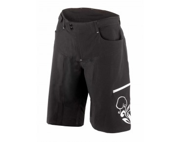 ROSE FLOWER women's bike shorts black