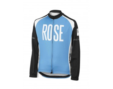 ROSE children's thermal long-sleeved jersey black/sky