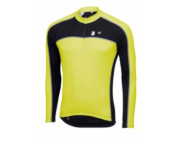 ROSE DESIGN III Langarmtrikot black/lime