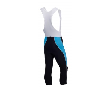 ROSE DESIGN III 3/4-length bib tights black/sky