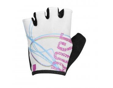 ROSE LINES GEL Damen Handschuhe white/pink