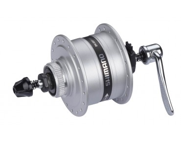 SHIMANO DH-3D37 Disc Nabendynamo 32 Loch silber