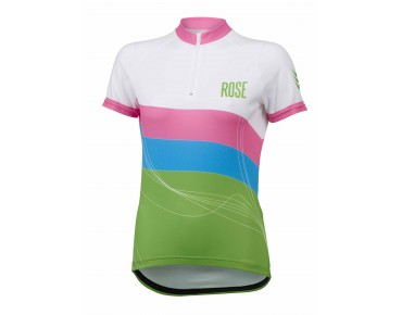 ROSE WAVES Damen Trikot green/sky/pink