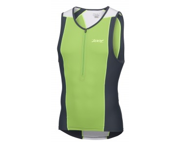 ZOOT PERFORMANCE Tri Top green flash/pewter