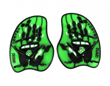 Arena Vortex Evolution hand paddles green/black