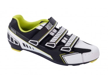 ROSE RRS 09 Rennradschuhe black/white/fluo yellow