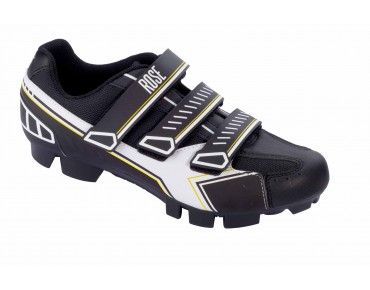 ROSE RMS 07 MTB shoes black/white/fluo yellow