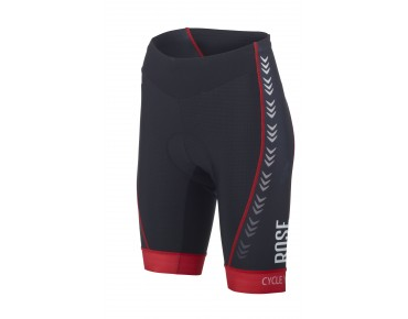 ROSE RACE PRO women's cycling shorts black/red