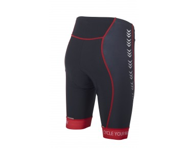 ROSE RACE PRO Damen Radhose black/red
