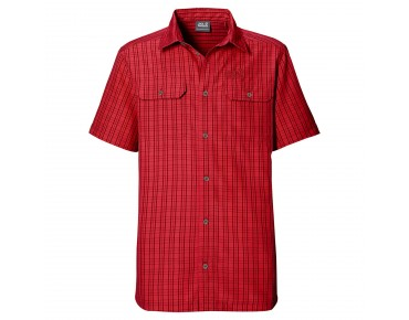 Jack Wolfskin THOMPSON Shirt indian red checks