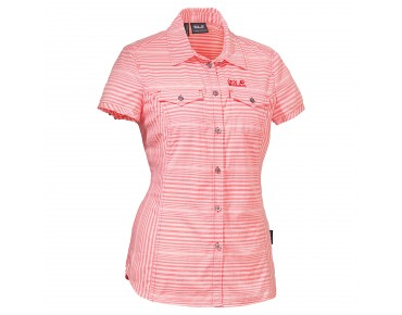 Jack Wolfskin EAST RIVER SHIRT WOMEN grapefruit stripes
