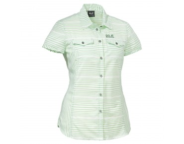 Jack Wolfskin EAST RIVER SHIRT WOMEN soft green stripes