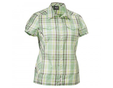Jack Wolfskin SALT LAKE WOMEN Damen Bluse soft green checks