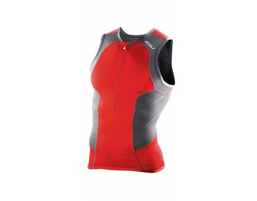 2XU PERFORM tri top neon red/charcoal
