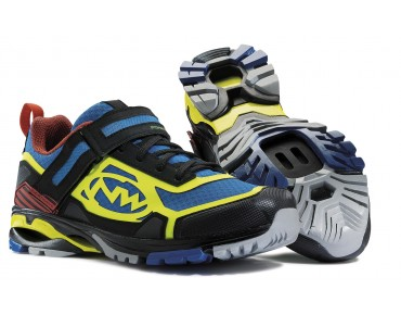 NORTHWAVE MATRIX MTB-/Trekkingschuhe black/blue/yellow fluo