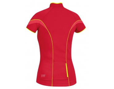 GORE BIKE WEAR POWER 3.0 women's jersey rich red/neon yellow
