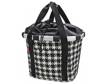 Reisenthel BIKEBASKET handlebar bag with KLICKfix mount fifties black