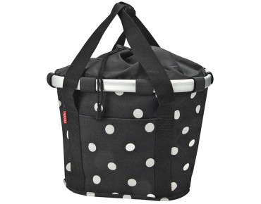 Reisenthel BIKEBASKET handlebar bag with KLICKfix mount black dots