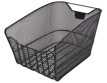 KLICKfix CITYMAX FIX rear bicycle basket for permanent installation schwarz