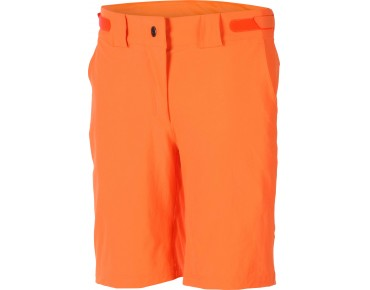 ziener CINDA women's bike shorts poison orange