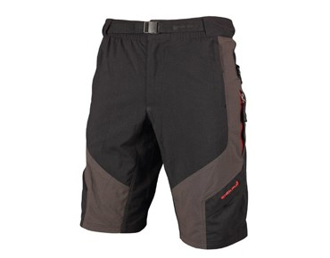 ENDURA HUMMVEE cycling shorts black/grey/red