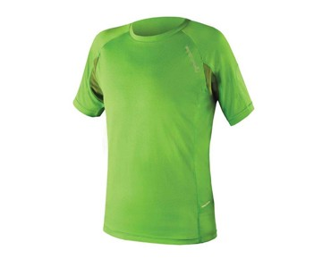 ENDURA SINGLETRACK LITE WICKING functional shirt kelly green