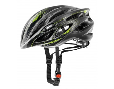 uvex race 1 helmet black mat/green