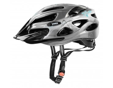 uvex onyx women's helmet dark silver/light blue