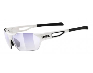 uvex sportstyle 202 small race vm Brille white/variomatic litemirror blue