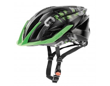 uvex ultra snc MTB Helm black/green mat
