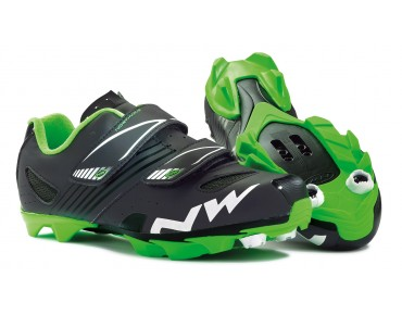 NORTHWAVE HAMMER JUNIOR Kinder MTB-Schuhe matt black/green