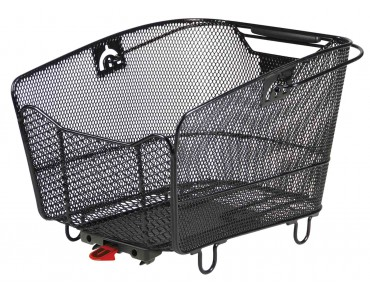 Rixen & Kaul KLICKfix CITYMAX rear bicycle basket for Racktime racks black