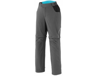 SHIMANO TOURING Damen Zipp Off-Hose anthrazit