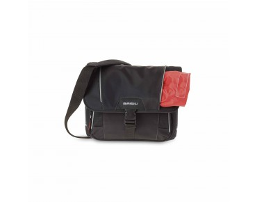 BASIL SPORT DESIGN FRONT BAG stuurtas black