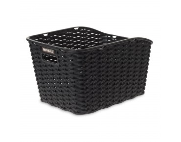 BASIL WEAVE WP rear bicycle basket black