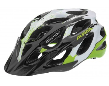 ALPINA MYTHOS MTB-helm black/white/green
