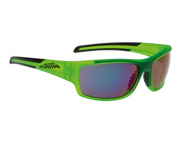 ALPINA TESTIDO Brille green matt-black/mirror blue