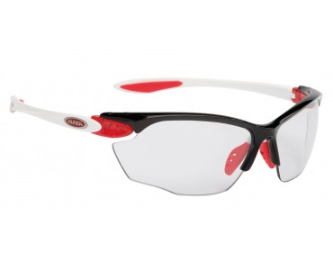 ALPINA TWIST FOUR VL+ S sports glasses black/white/red/vaioflex+black