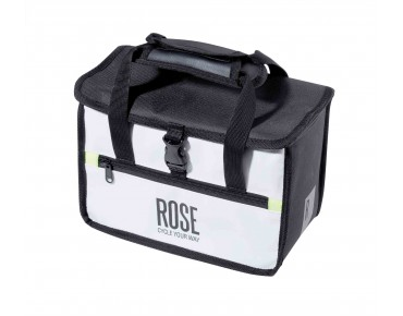 ROSE WHITE LINE handlebar bag incl. KLICKfix adapter plate black/white