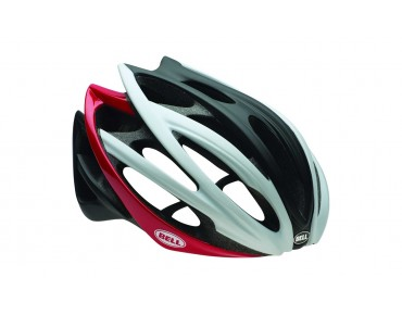 BELL GAGE Rennradhelm white/black/red spline