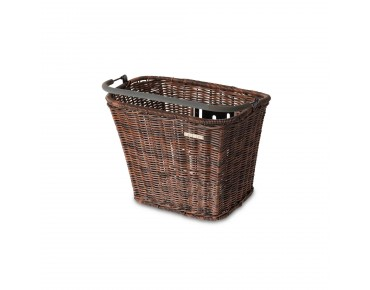 BASIL BASIMPLY II RATTAN LOOK bicycle basket incl. KLICKfix adapter plate nature brown