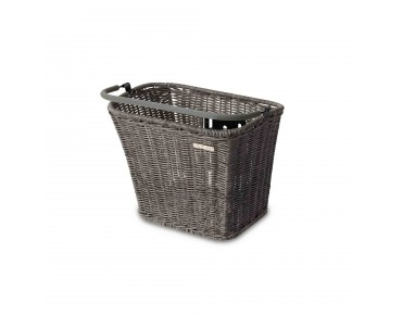 BASIL BASIMPLY II RATTAN LOOK bicycle basket incl. KLICKfix adapter plate nature grey
