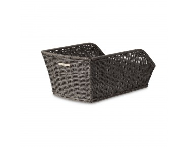 BASIL CENTO RATTAN LOOK rear bicycle basket nature grey