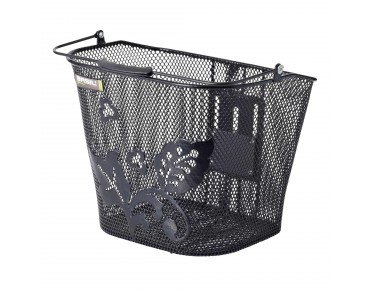 BASIL BASIMPLY EC FLOWER front bicycle basket incl. KLICKfix adapter plate black