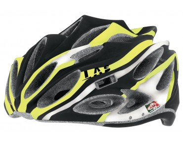 LAS SQUALO LIGHT Rennradhelm black/yellow fluo