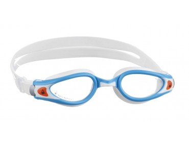 Aqua Sphere Kaiman Exo small swimming goggles white-turquoise/clear lens