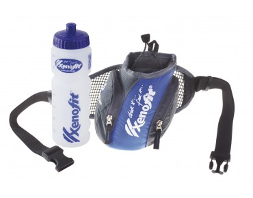 Xenofit® hydration belt incl. drinks bottle black/blue