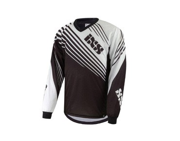 IXS SVELT kids' long-sleeved shirt black-white