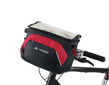 VAUDE ROAD II Lenkertasche black/red